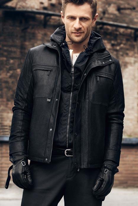 Куртка кожаная из енота